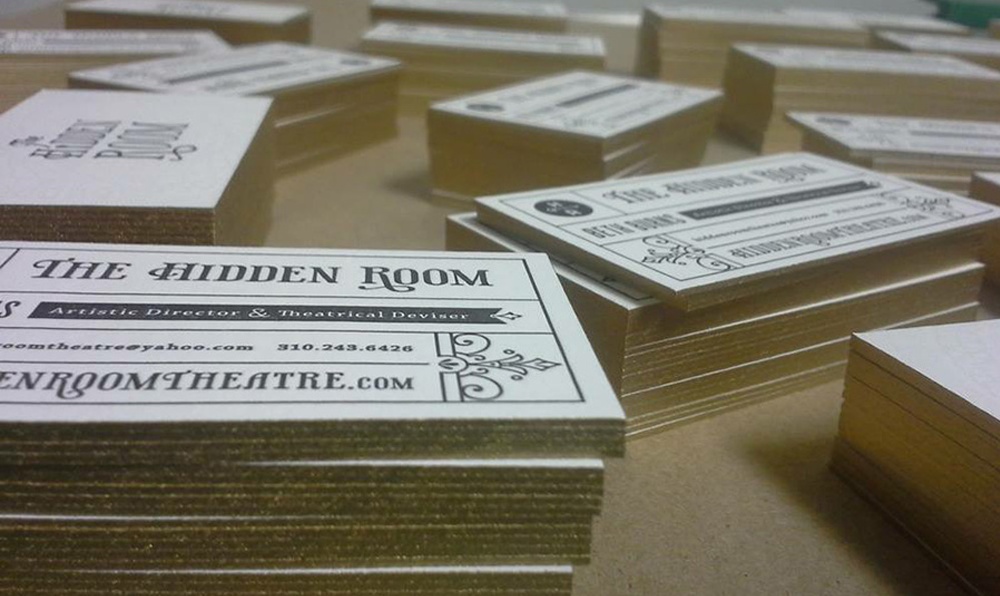 Letterpress Card Design for Hidden Room