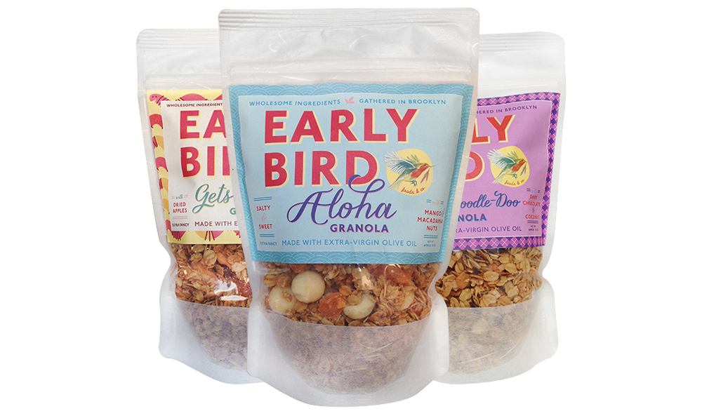 Early Bird Granola Packaging by Five and Four
