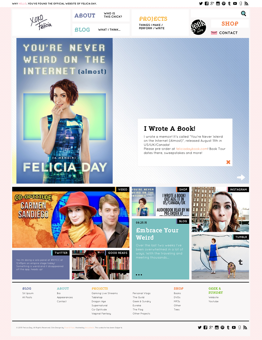 Felicia Day website