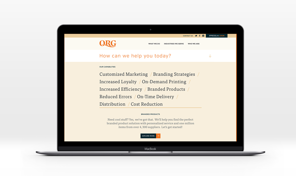 QRG website design by Five and Four