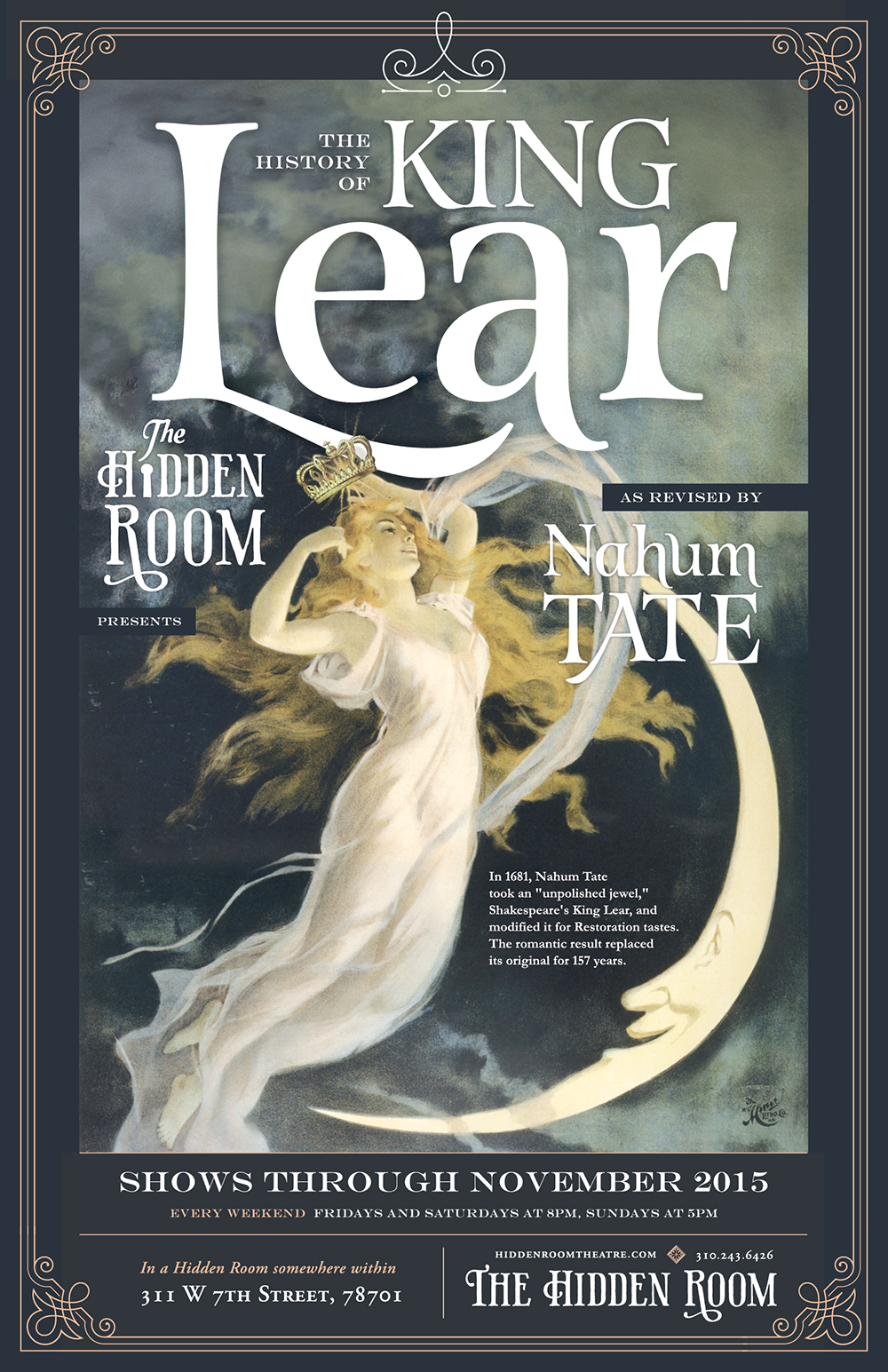 Poster Design for Tate's Lear