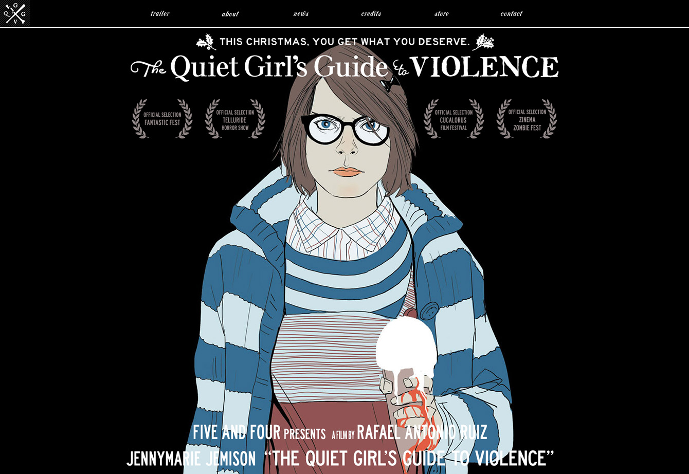 Homepage of the film website The Quiet Girl's Guide to Violence