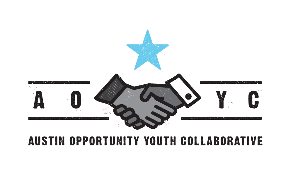 Austin Opportunity Youth Collaborative horizontal logo by Five and Four