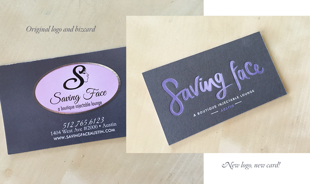 Rebranding of Saving Face Austin by Five and Four