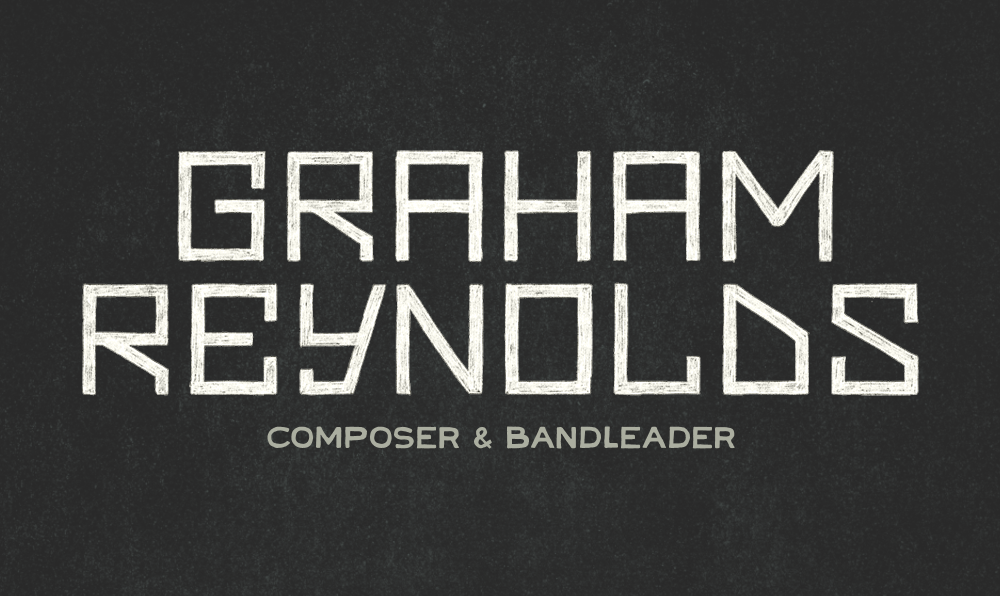 Wordmark for Graham Reynolds designed by Five and Four